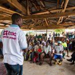 In Sierra Leone, community members discuss basic human rights at a BRAC Human Rights community meeting.