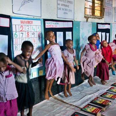 Children in BRAC's pre-primary education program in Tanzania.